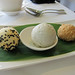 Fried and Steamed Black Sesame Paste Dumplings with Black Sesame Ice Cream