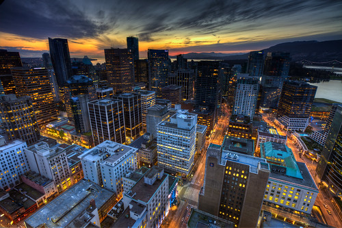 Downtown Vancouver sunset | by Basic Elements Photography