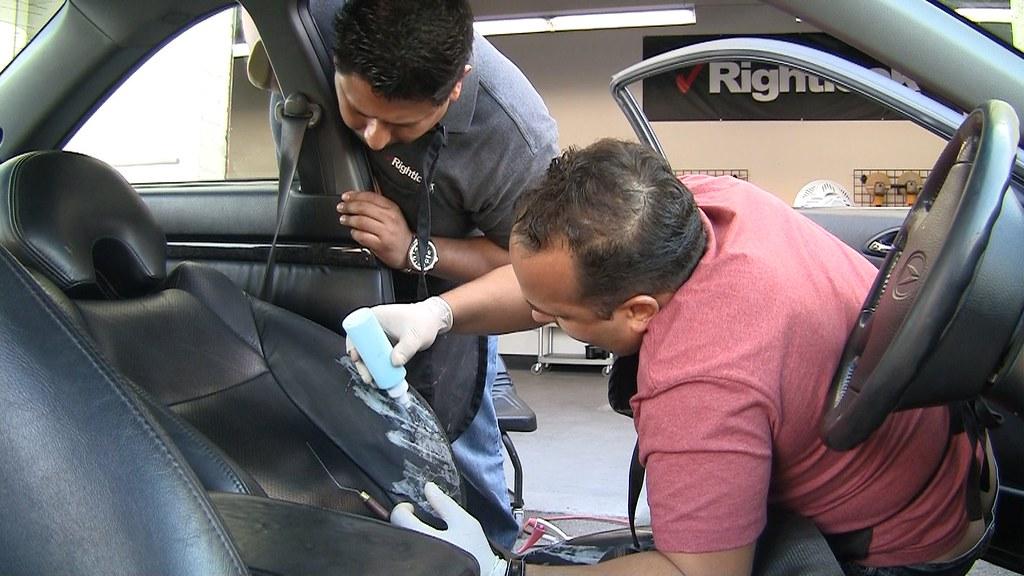 leather seat repair auto interior repair training flickr. Black Bedroom Furniture Sets. Home Design Ideas