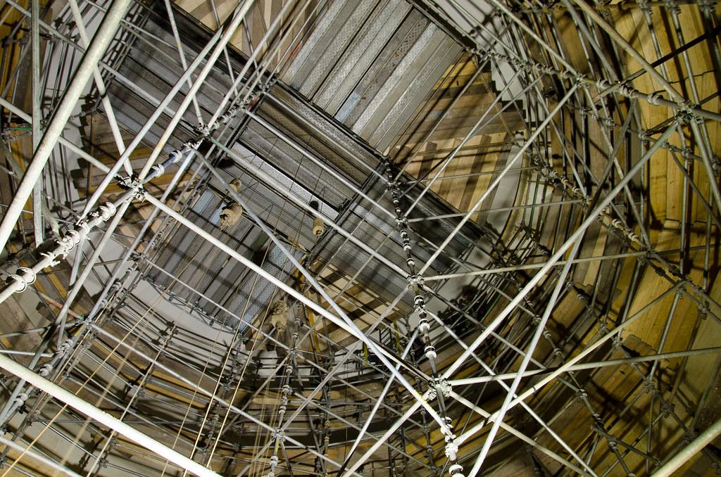 interior tank scaffold a long exposure inside a huge dark flickr