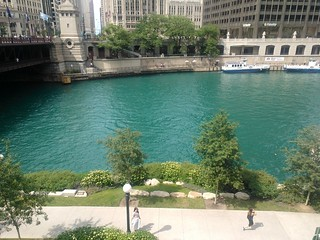Chicago river got its green swag on. | by MyNokiaBlog