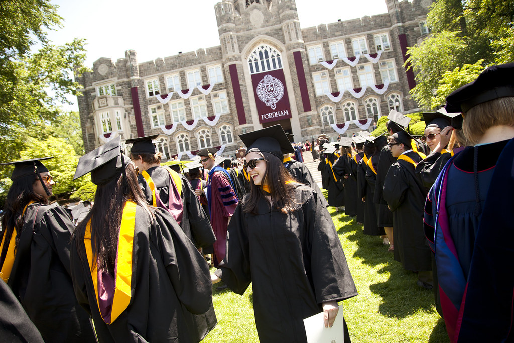 fordham college logo. fordham college at rose hill diploma ceremony | by fordhamalumni logo