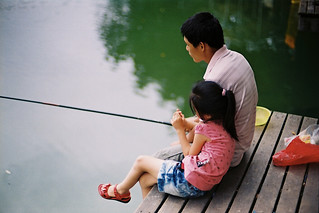 Fishing together with father is sweet moment. Happiness is simple, just no pressure with whom you would like to accompany | by nicoyangjie