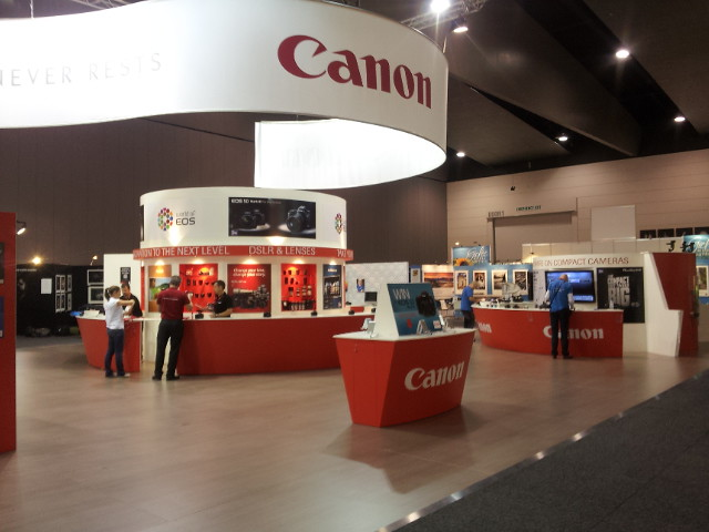 3d Exhibition Melbourne : Canon exhibition stand melbourne may