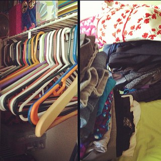 Another closet purge.  I have very few clothes | by glamourfae