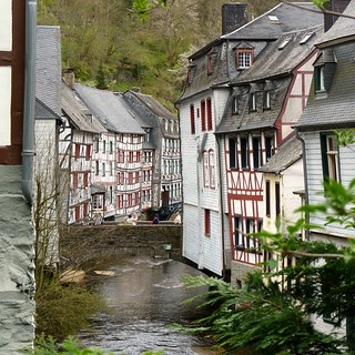 River Rur running through a picturesque Monschau | by B℮n