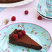Chocolate hazelnut tart with raspberries