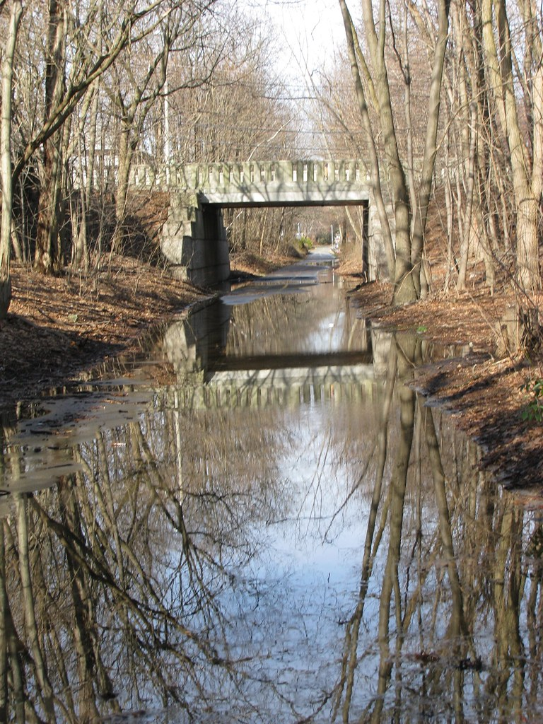 minuteman bike path flooded reflecting david chase flickr