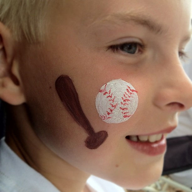 face painting baseball is one of my cousin 39 s favorite spo