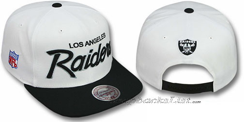 c5f7d435b5a ... Mitchell   Ness NFL - Oakland Raiders Snapback White Hats Caps 2T TEAM- SCRIPT