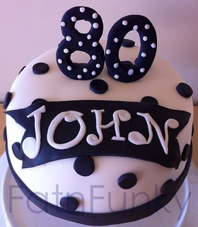 80th Dotty cake | by Fatnfunky cakes & art
