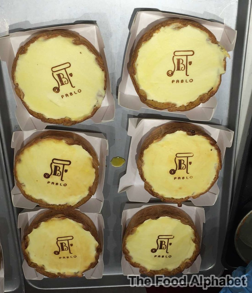 The Food Alphabet And More Pablo World Famous Osaka Cheese Tart Sabrel Matcha Busy As A Bee Pablos Tarts Are Baked Fresh Daily Inside Store So You Can See How Clean Orderly They Make Your