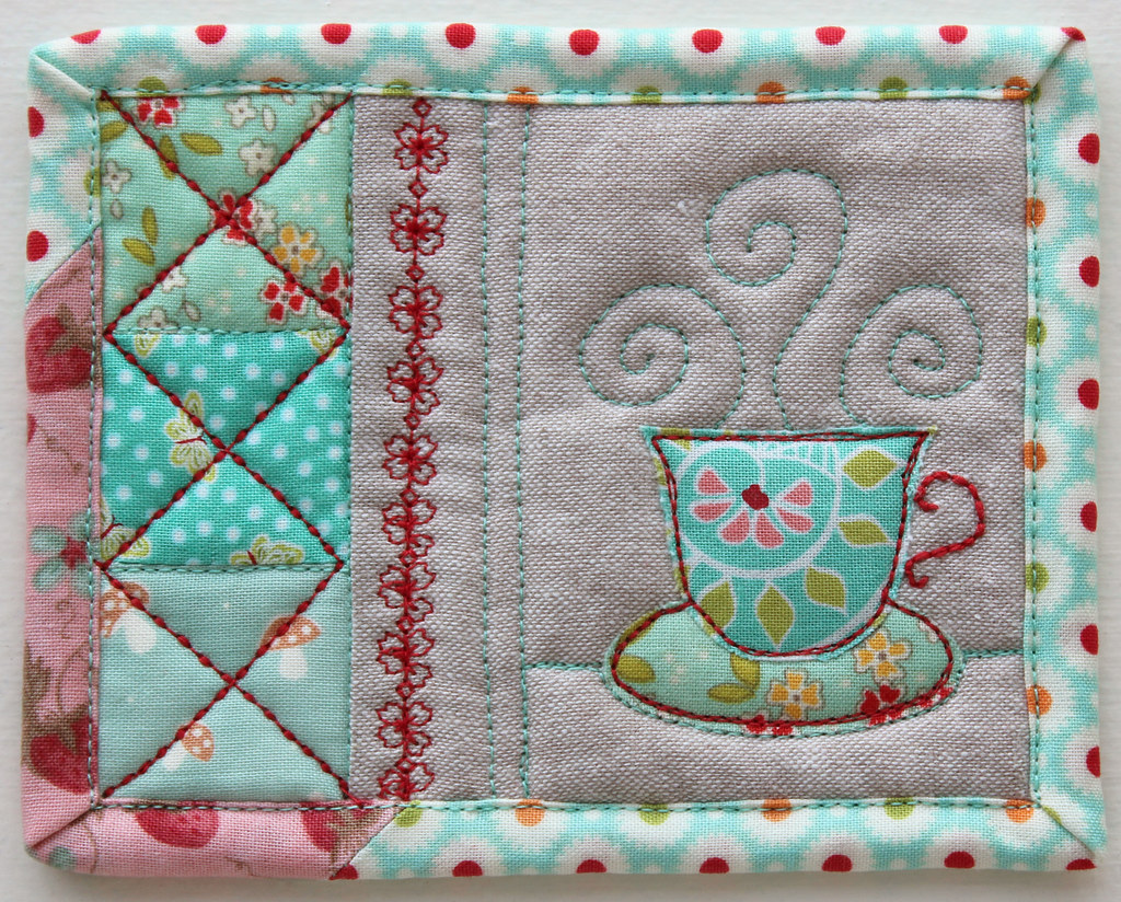 Tiny Teacup Coaster Blogged Patchworkpottery Flickr