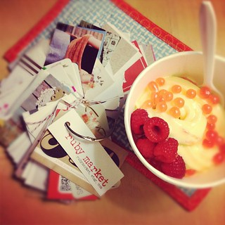The rest of my night: fro yo & checking out all my new business cards! | by Erin - TwoMoreSeconds