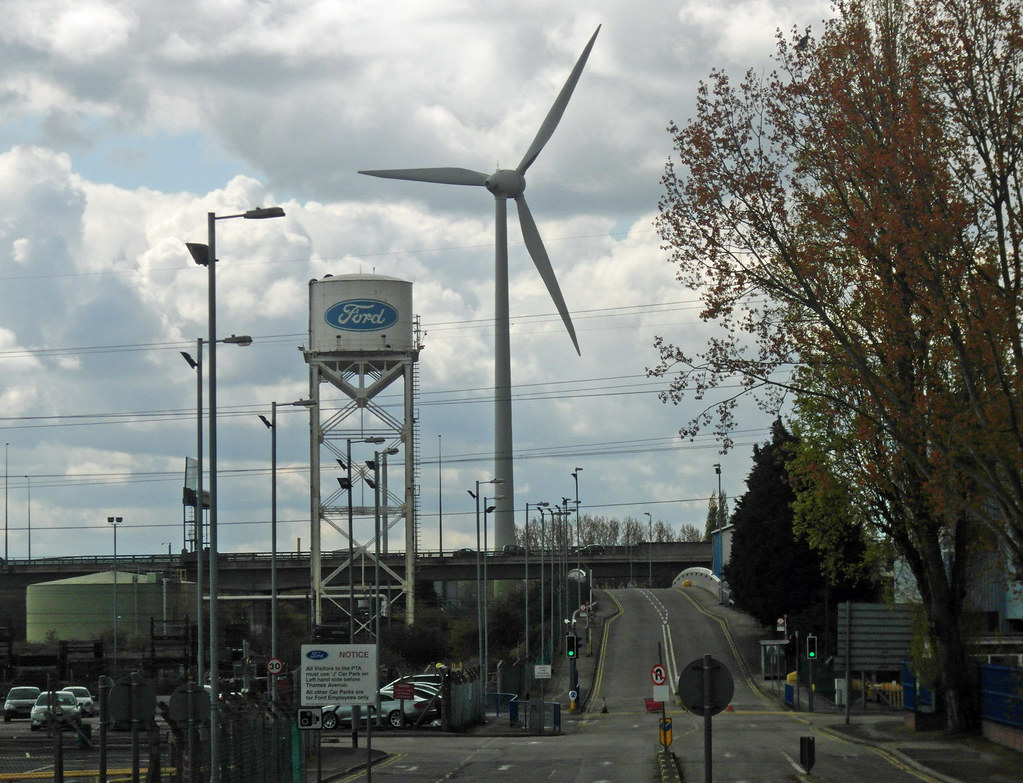 Ford Dagenham London S First Wind Farm At A Factory