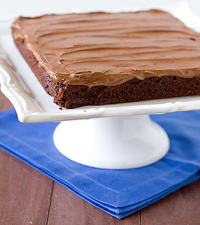 Chocolate-frosted brownies | by Brown Eyed Baker