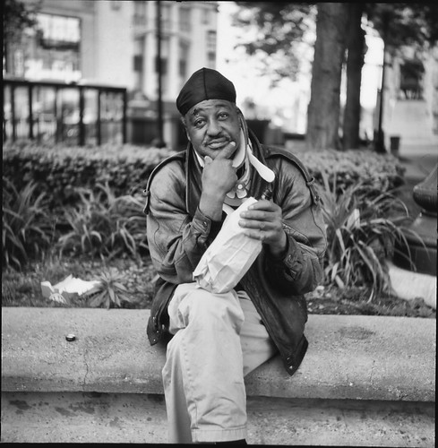 """hey, young blood, why don't you take MY picture with that old camera?"" (Detroit 2012) 