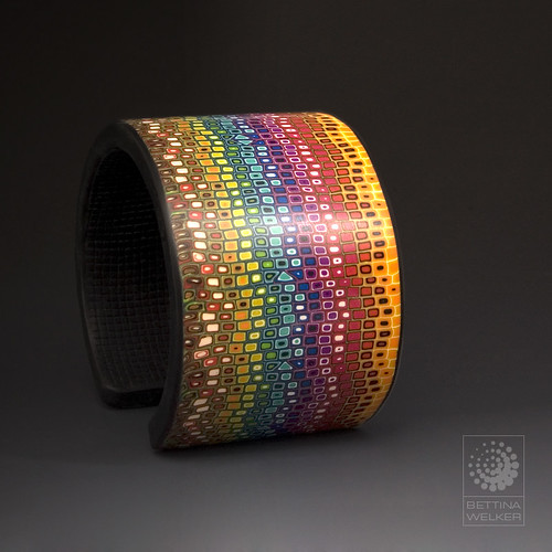 Rainbow Cuff | by Bettina Welker • Polymer Artist & Teacher