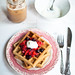 waffles + berries + yogurt