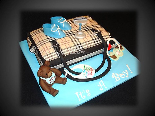 Burberry Baby Shower Boy Cake Smaller Male Version Of