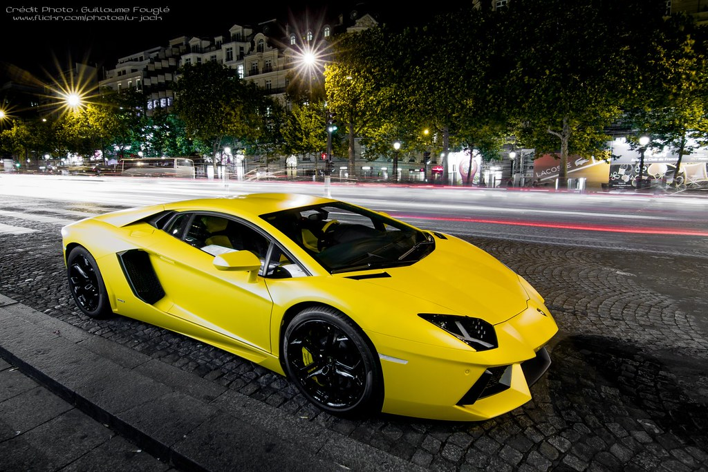 Matte Yellow On Explore Lamborghini Aventador Lp700 4