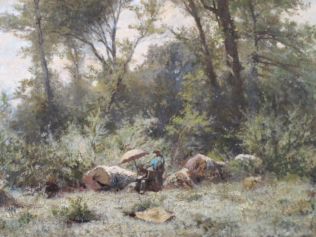 Peintre en for t de fontainebleau ernest ch rot mus e m for Barbizon peintre