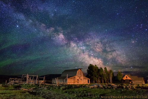 "Stars over John Moulton homestead | by IronRodArt - Royce Bair (""Star Shooter"")"