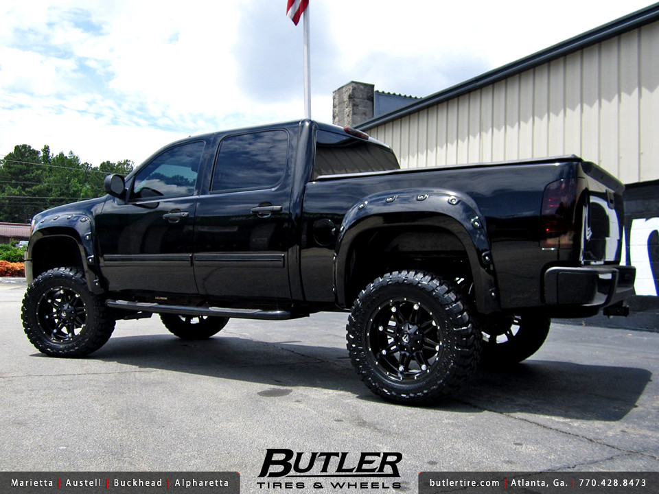 Lifted Chevy Colorado >> GMC Sierra with 20in Fuel Hostage Wheels, 6in Fabtech Lift ...