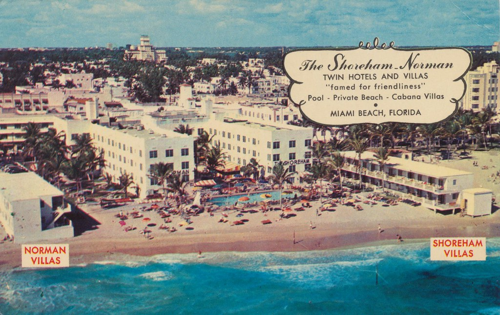 The Shoreham Norman Twin Hotels Amp Motels Miami Beach Fl