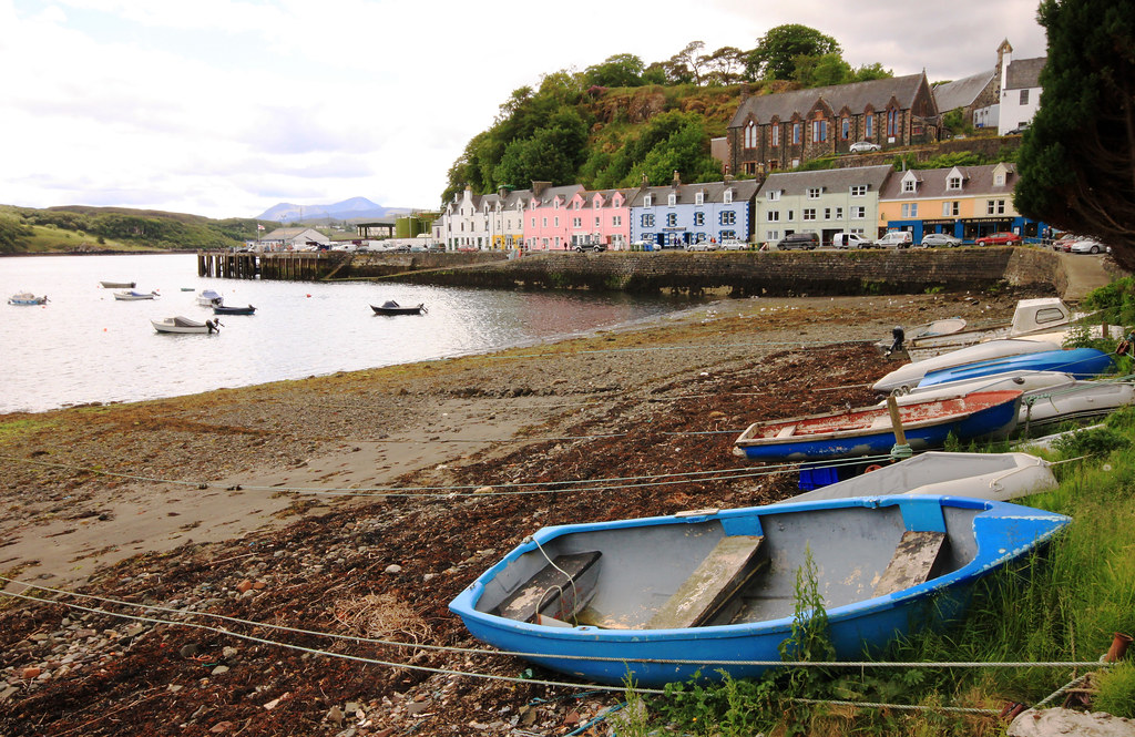Portree Harbour Isle Of Skye Scotland Uk View Of