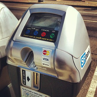 Parking meters...four/five forms of payment | by Walter Parenteau