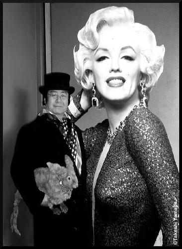Seara (sea rabbit), Dr. Takeshi Yamada and Marilyn Monroe at Times Square in Manhattan, New York on March 1, 2012.   20120301 142. Marilyn Monroe is still very popular in the United States even today. | by searapart12