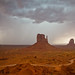storm on Monument Valley, color...
