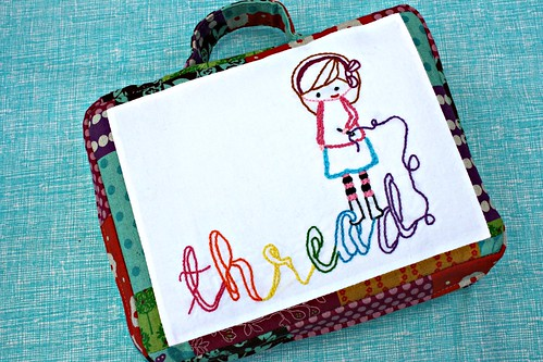Tutorial embroidery to go case free sewing pattern that