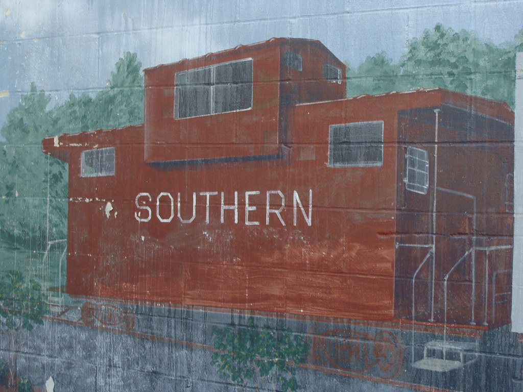 Southern caboose wall mural irondale al lamar for Alabama wall mural