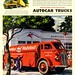 1945 Print Ad Mobilgas and oil Autocar
