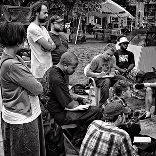 Intensity & Commitment In An Occupy Meeting, Occupy DC, McPherson Square, Washington, DC | by Gerald L. Campbell