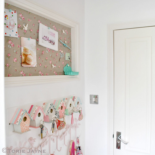 Hand-made pinboard & bird hooks | by toriejayne