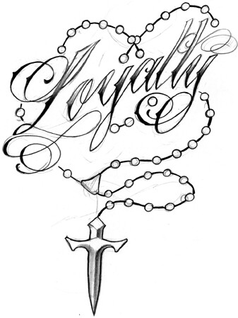loyalty rosary beads tattoo design loyalty rosary beads ta flickr. Black Bedroom Furniture Sets. Home Design Ideas