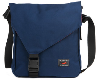 Large Cafe Bag in Navy/Cayenne | by TOM BIHN