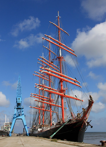 Four-Masted Barque SEDOV in Cuxhaven | by cuxclipper 