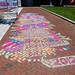 Cool chalk art outside Constitution Center