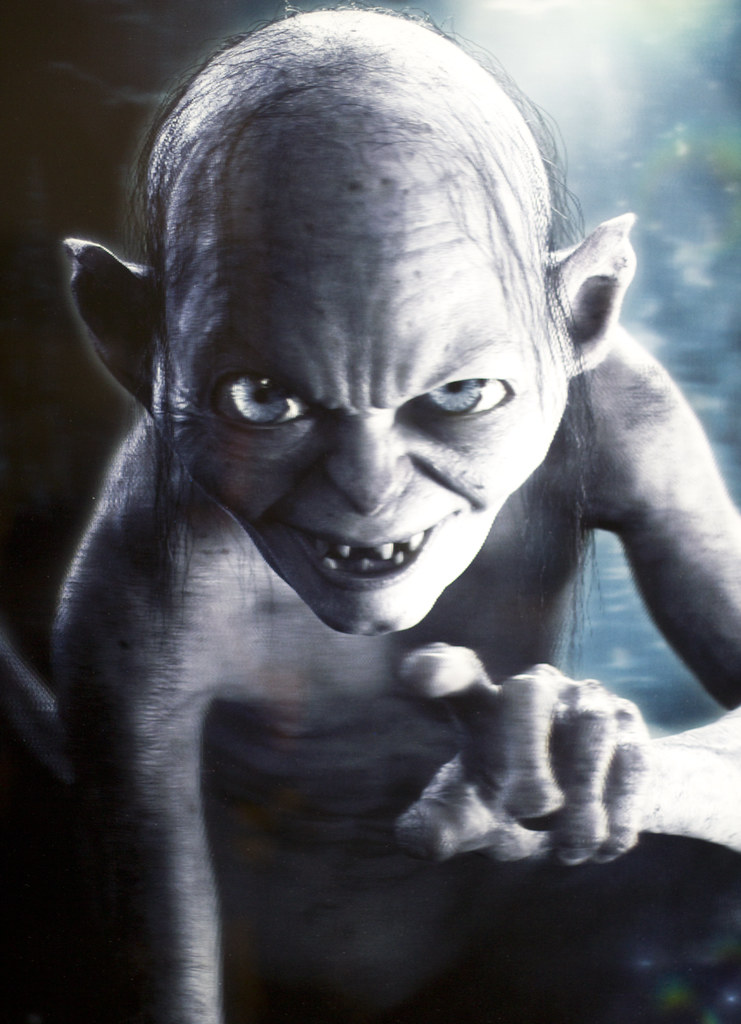 gollum this was a 3d poster promoting the hobbit