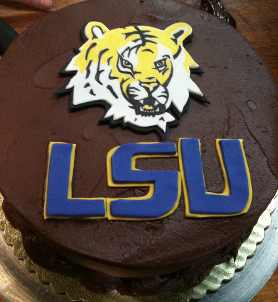 Edible Lsu Cake Decorations