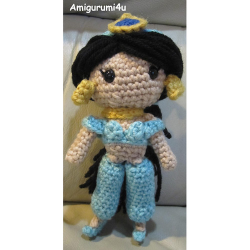Amigurumi Disney Gratis : Jasmine disney aladdin handmade amigurumi crochet doll