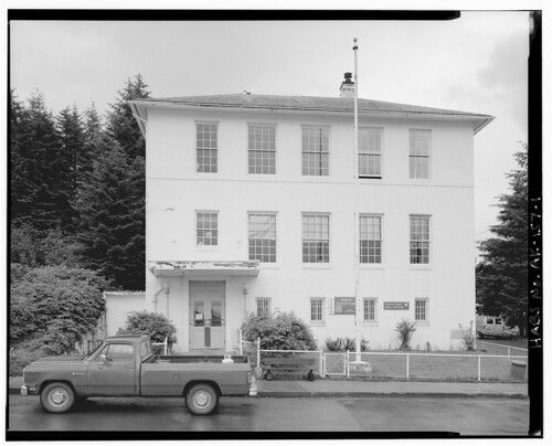 The historic Cordova, Alaska courthouse and post office
