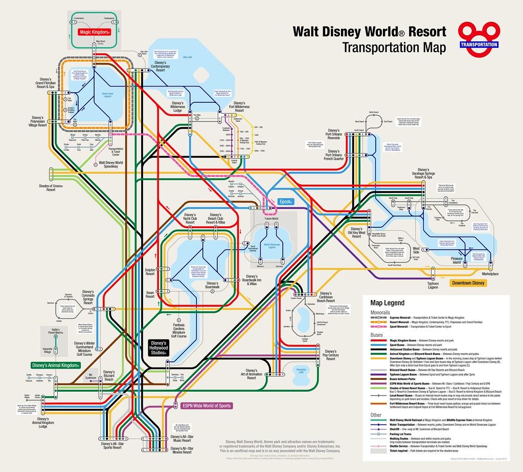 Walt Disney World Resort Map | More information: www.wdwfocu… | Flickr