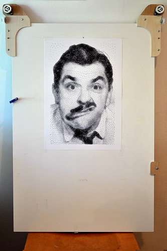 Ernie Kovacs StippleGen on Polargraph | by kongorilla