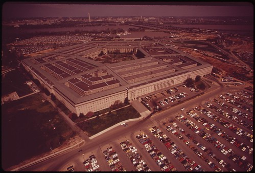 Aerial View Of The Pentagon And One Of Its Parking Fields, April 1973 | by The U.S. National Archives