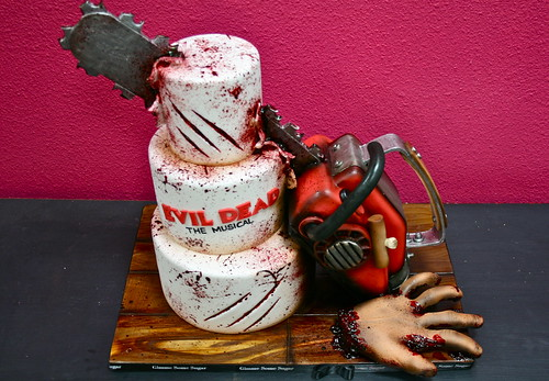 Evil Dead Chainsaw Cake Gimme Some Sugar Vegas Flickr